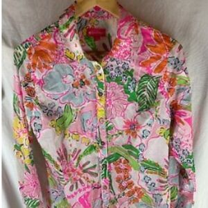 LILLY PULITZER for TARGET button front shirt